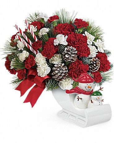 "Send a Hug Open Sleigh Ride by Teleflora ""limited edition"""