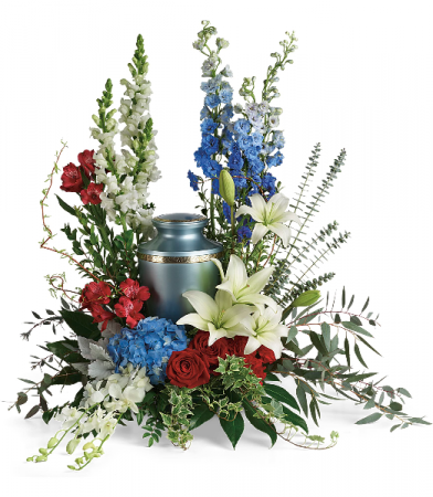 REFLECTIONS OF HONOR CREMATION TRIBUTE URN ARRANGEMENT Shown at $144.95