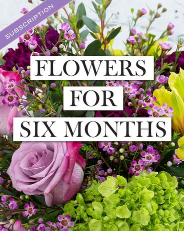 BOUQUET OF THE MONTH CLUB - 6 Months of Fresh Flowers!!!