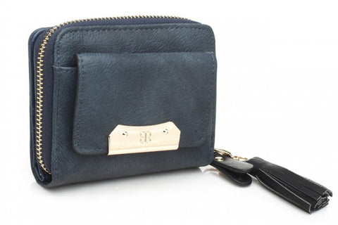 Anna Smith Cut Out Purse in Light Blue