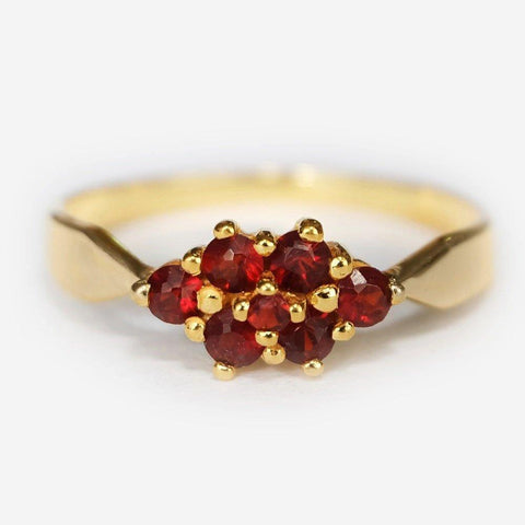0.30 Carats 14k Solid Gold Garnet Engagement Ring