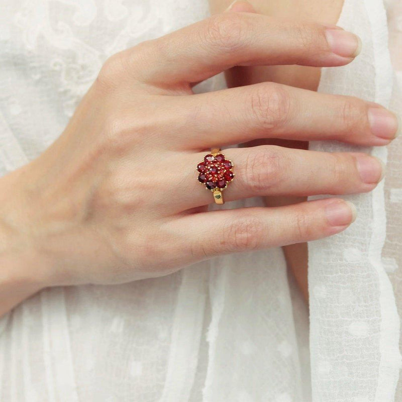0.30 Carats 14k Solid Gold Garnet Engagement Ring - SOVATS
