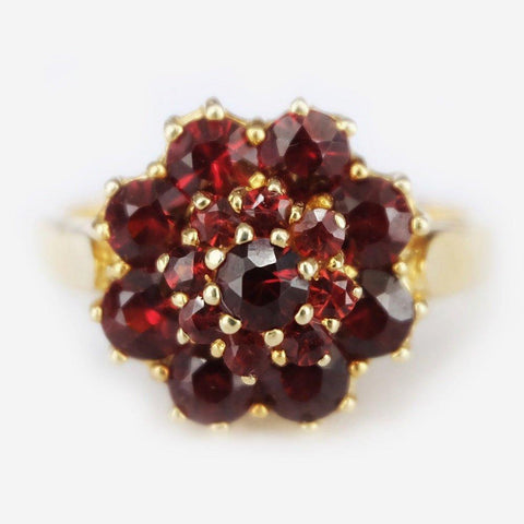 3.40 Carats 14k Solid Gold Garnet Earrings