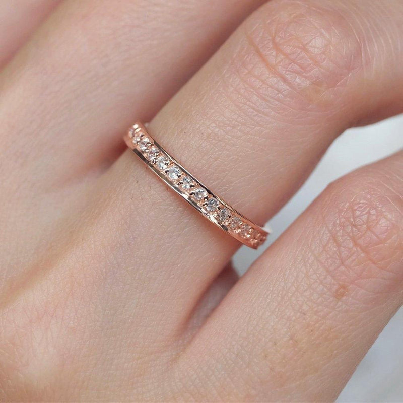 0.33 Carats 14k Solid Rose Gold Diamond Engagement Ring - SOVATS