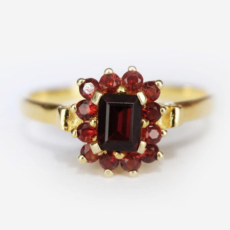 0.70 Carats 14k Solid Gold Garnet Engagement Ring - SOVATS
