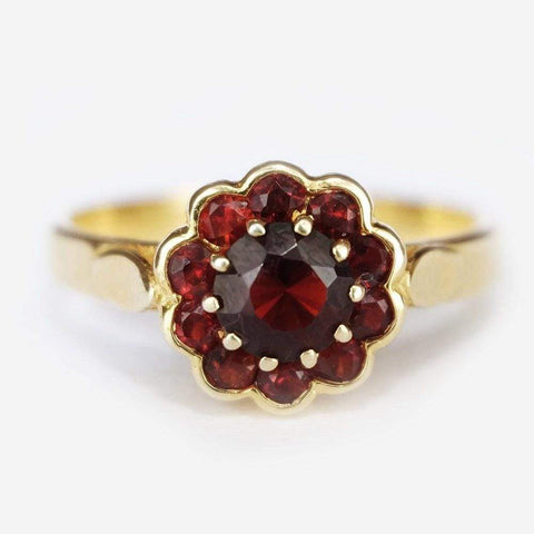 1.50 Carats 14k Solid Gold Garnet Engagement Ring