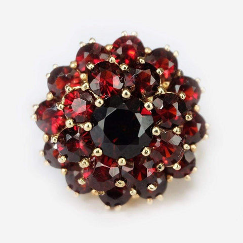 0.55 Carats 14k Solid Gold Garnet Engagement Ring