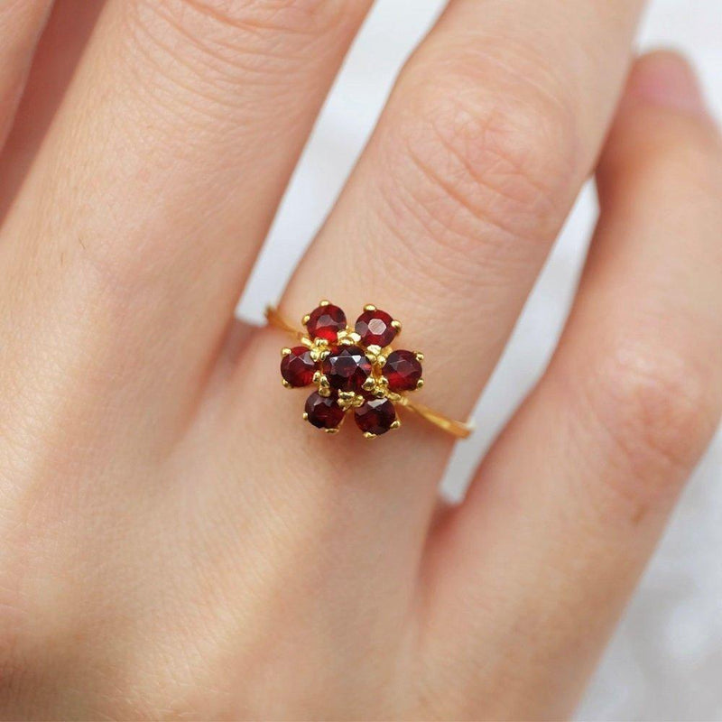 1.20 Carats 14k Solid Gold Garnet Engagement Ring - SOVATS