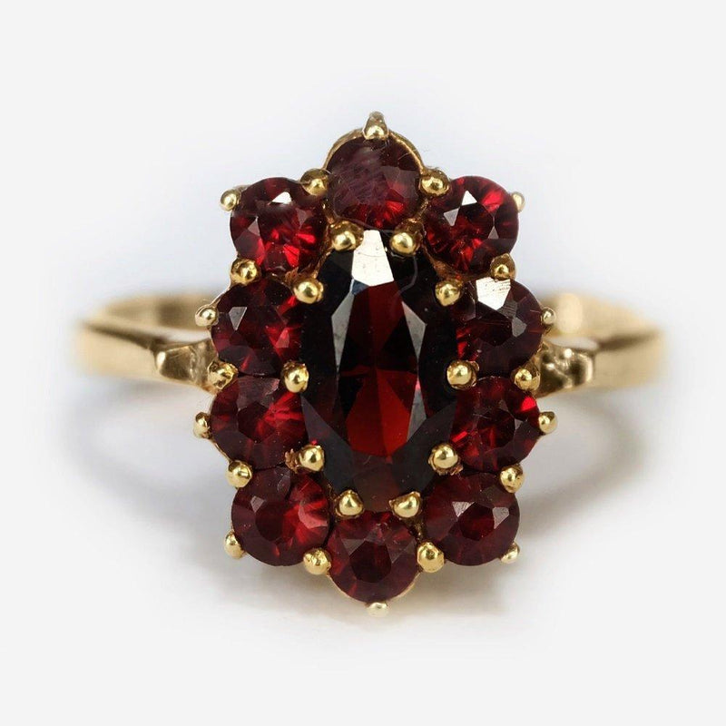 1.50 Carats 14k Solid Gold Garnet Engagement Ring - SOVATS