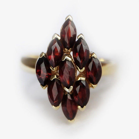 1.70 Carats 14k Solid Gold Garnet Engagement Ring