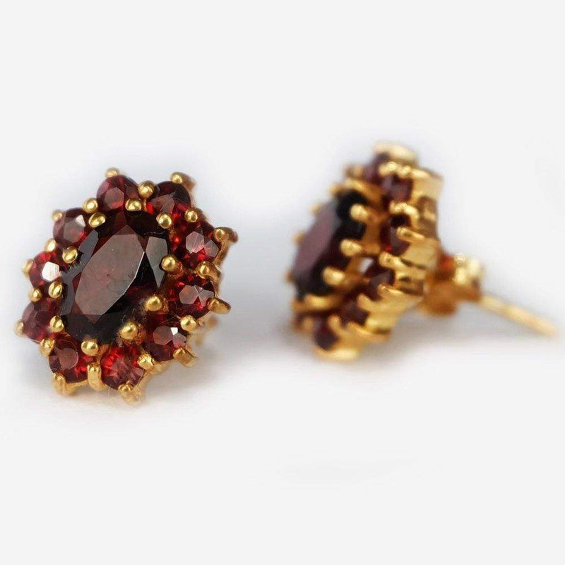 2 Carats 14k Solid Gold Garnet Earrings - SOVATS