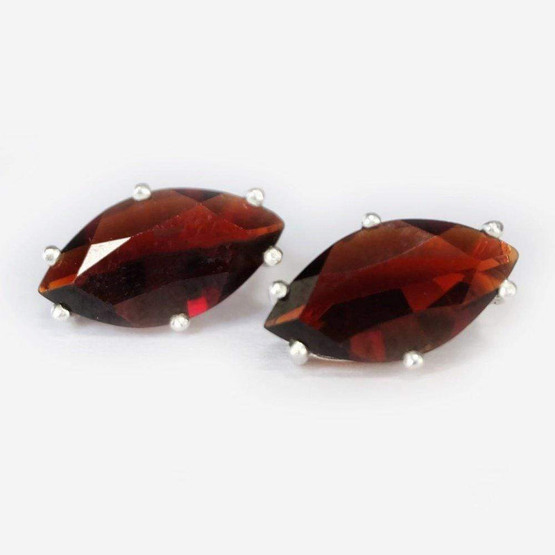 4.20 Carats 14k Solid White Gold Garnet Earrings - SOVATS