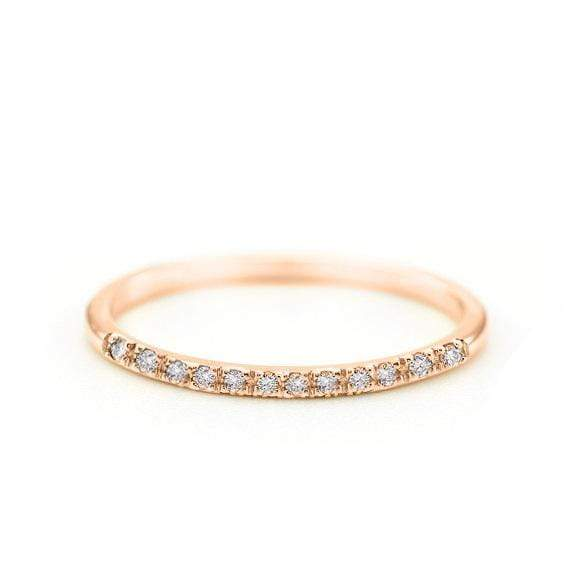 Diamond Band Ring (14k Rose Gold) - SOVATS