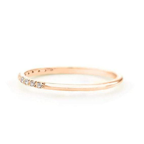 SOVATS GOLD Diamond Band Ring (14k Rose Gold)