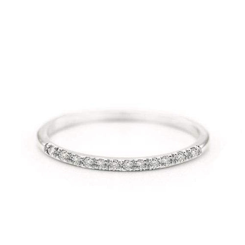 SOVATS GOLD Diamond Band Ring (14k White Gold)