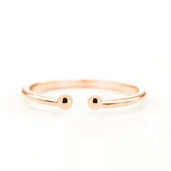 Double Dot Cuff Ring (14k Rose Gold) - SOVATS