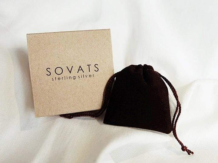 SOVATS MEN FISH HOOK ON LEATHER BRACELET