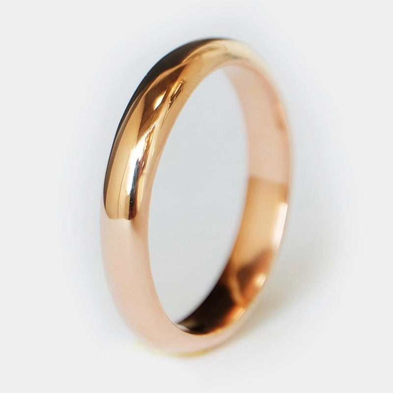 4mm Dome Gold Band Ring - SOVATS