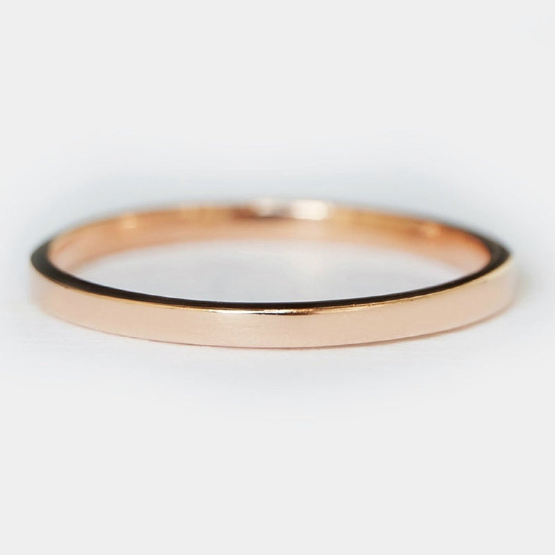 2mm Flat Gold Band Ring - SOVATS