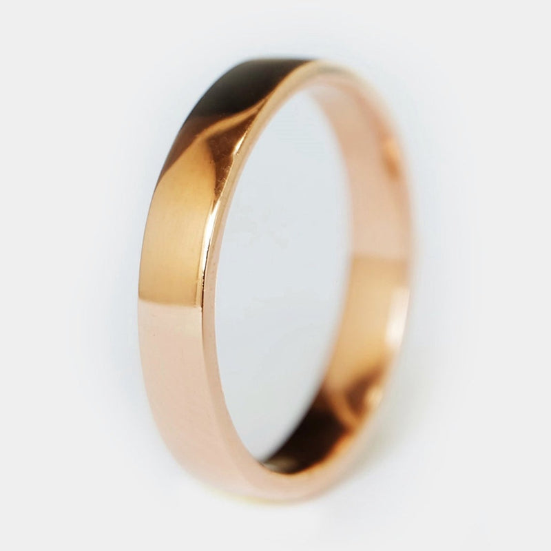 4mm Flat Gold Band Ring - SOVATS
