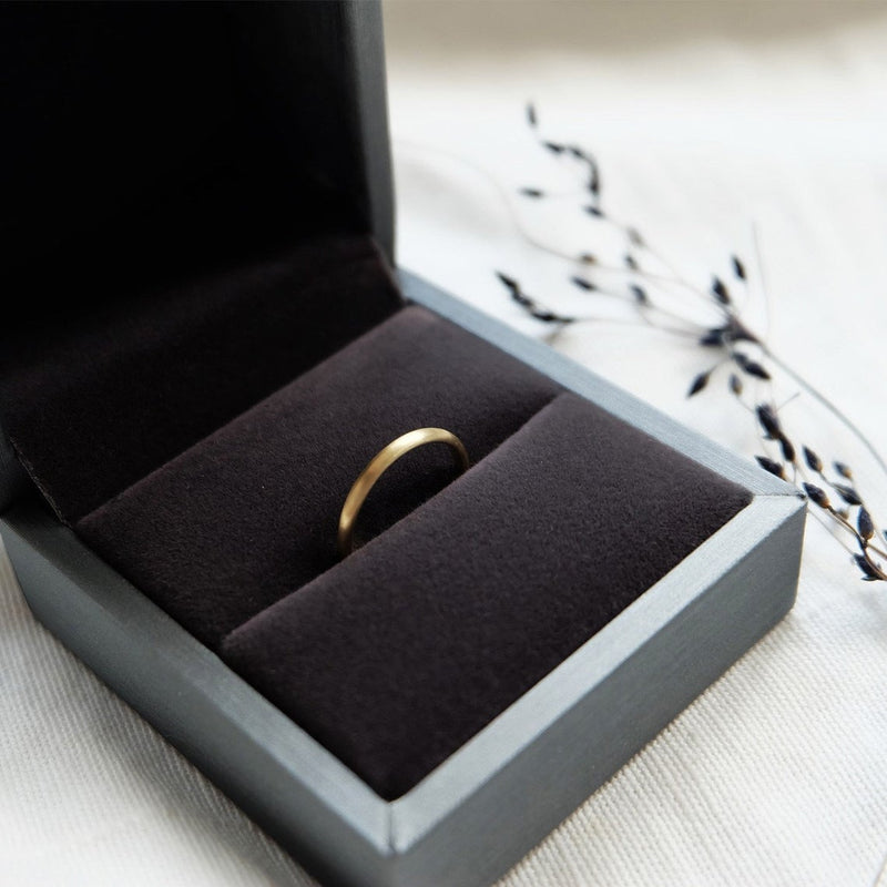 6mm Flat Gold Band Ring - SOVATS