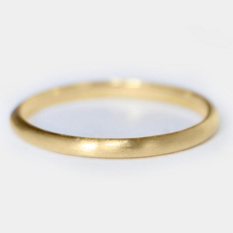 2mm Dome Gold Band Ring - SOVATS