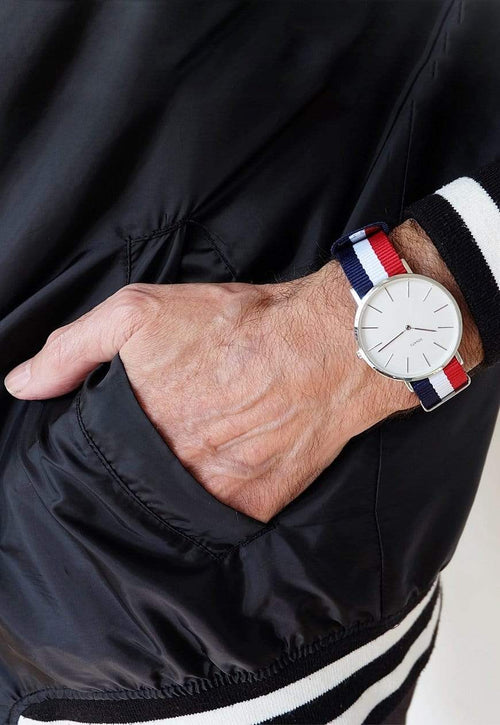 SOVATS WATCH MINIMALIST WATCH FRENCH NATO / IVORY WHITE