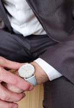 MINIMALIST WATCH GRAY LEATHER / IVORY WHITE - SOVATS