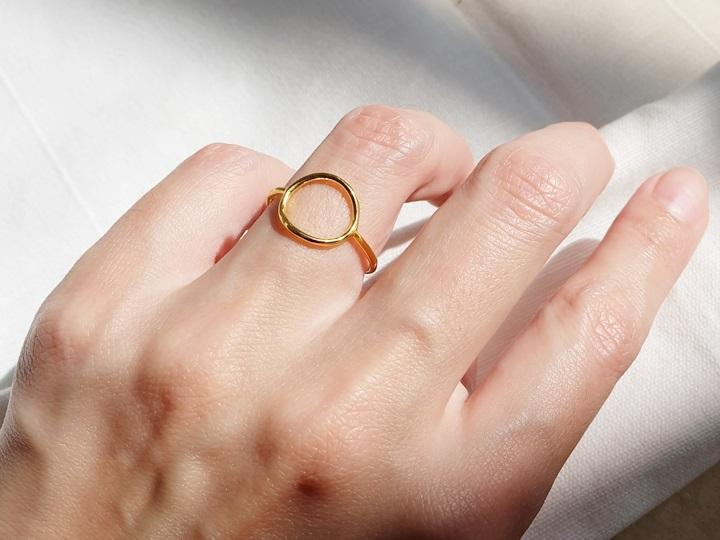 SOVATS GOLD Open Circle Ring (14k Rose Gold)