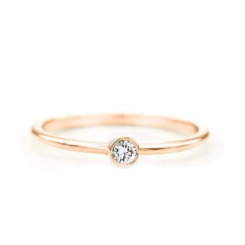 Baguette Diamond Ring (14k Rose Gold)