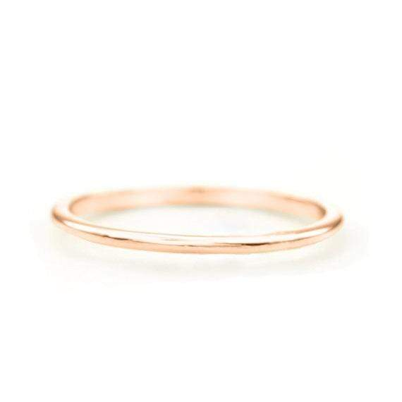SOVATS GOLD Skinny Stacking Ring (14k Rose Gold)
