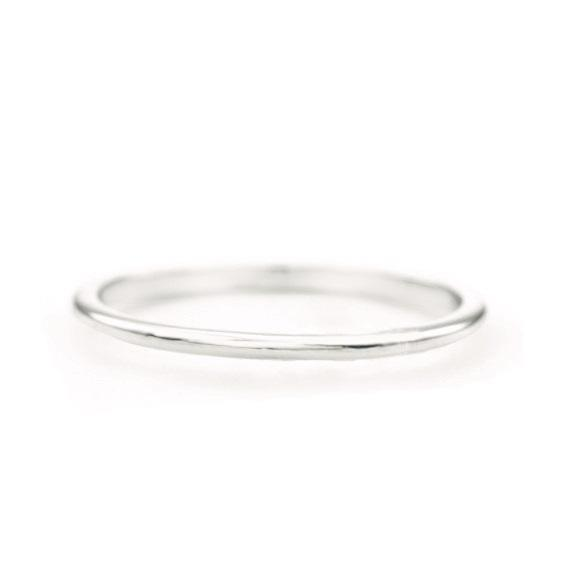 Skinny Stacking Ring (14k White Gold) - SOVATS
