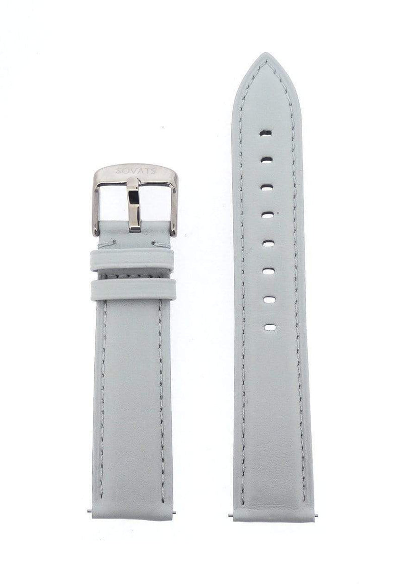 STRAP 20 MM / GRAY LEATHER - SOVATS
