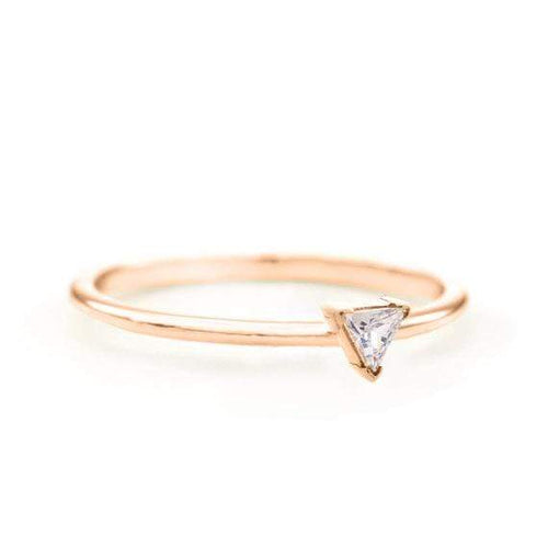 SOVATS GOLD Trillion Diamond Ring (14k Rose Gold)