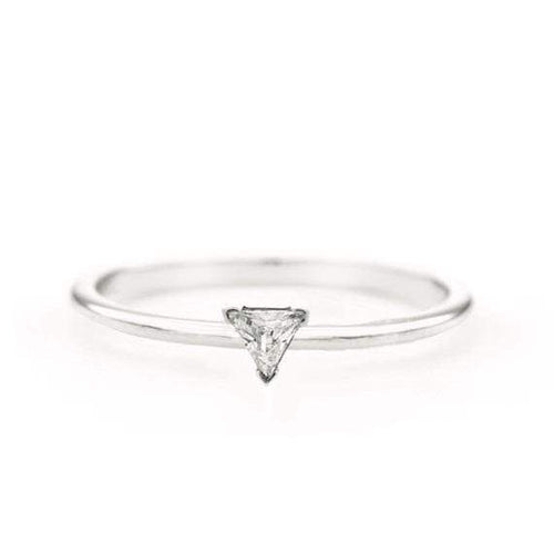 SOVATS GOLD Trillion Diamond Ring (14k White Gold)