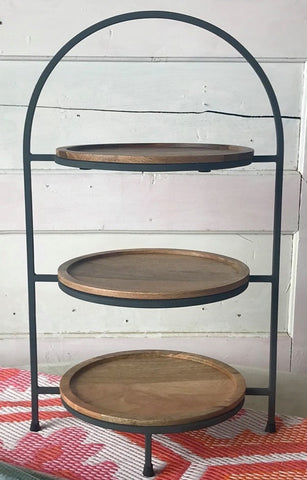 Carneros 3-Tier Round Serving Tray