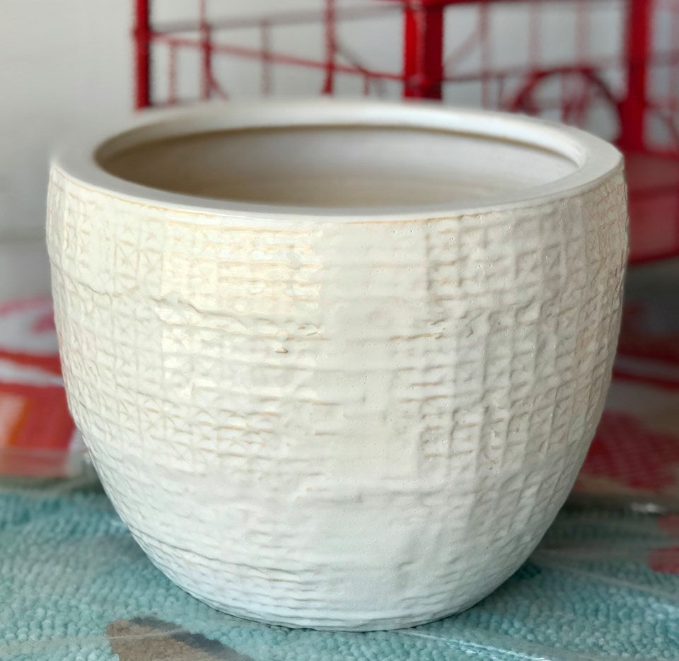 Shawna Pot (White) - Small