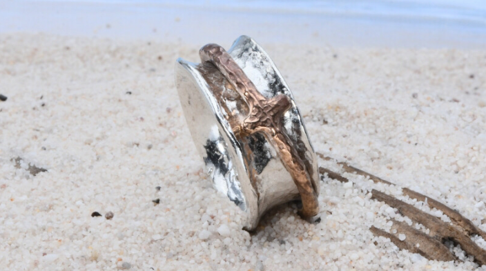 Earth Grace - Cross Spinner Ring