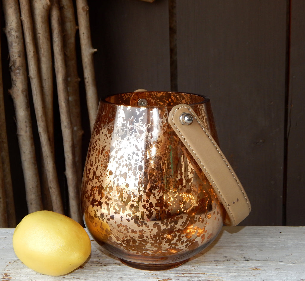 Copper Hanging Candle Holder - Small