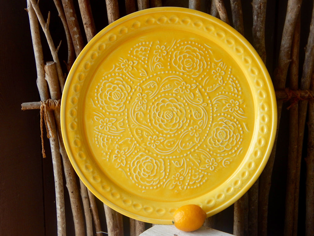 Medallion Tray - Yellow