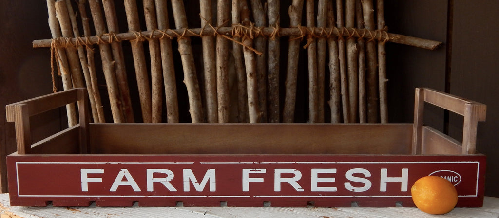 Wooden Farm Fresh Tray