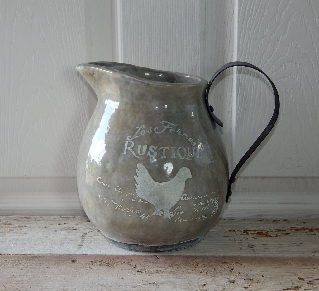 "Country French Pitcher 8"" - Gray"