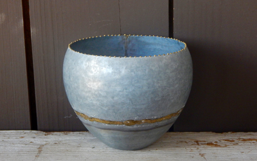 Galvanized Pot w/ Brass Welds - Medium