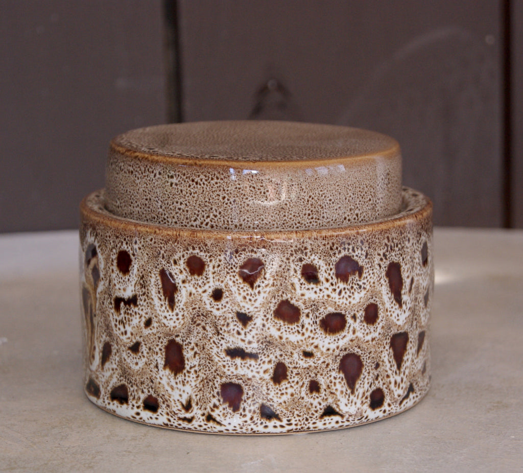 Katla Brown Round Jar - Small