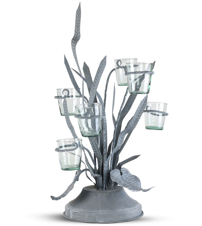 Reeds & Rushes Centerpiece w/ Glass