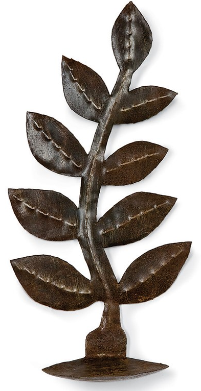 Primitive Leafy Branch Sconce