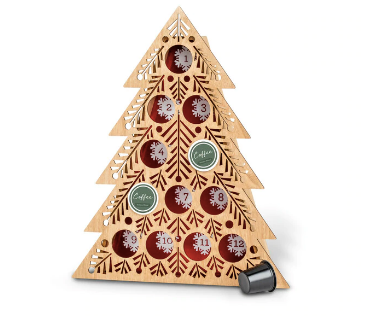 LED Lit Coffee Pod Countdown Tree