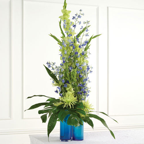 Green & Blue Altar Arrangement