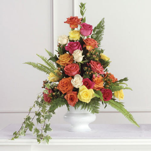 Rose Pedestal Arrangment