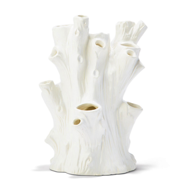 White Tree Trunk Vase